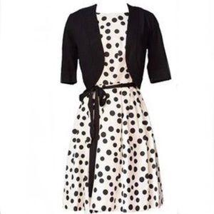 Jessica Howard Polka Dot dress ROYAL